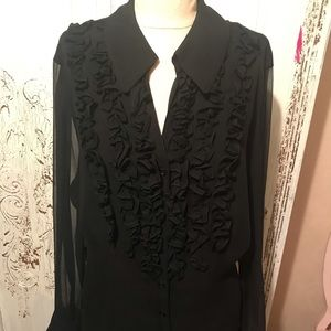 Gorgeous ruffle front blouse!